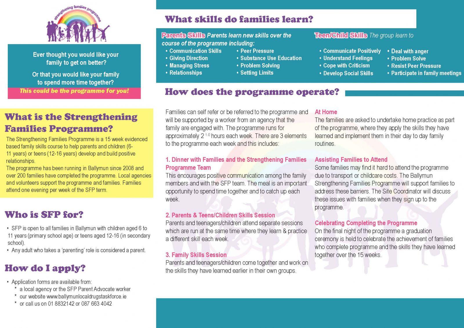 Strengthening Families Programme | Ballymun Local Drugs Task Force